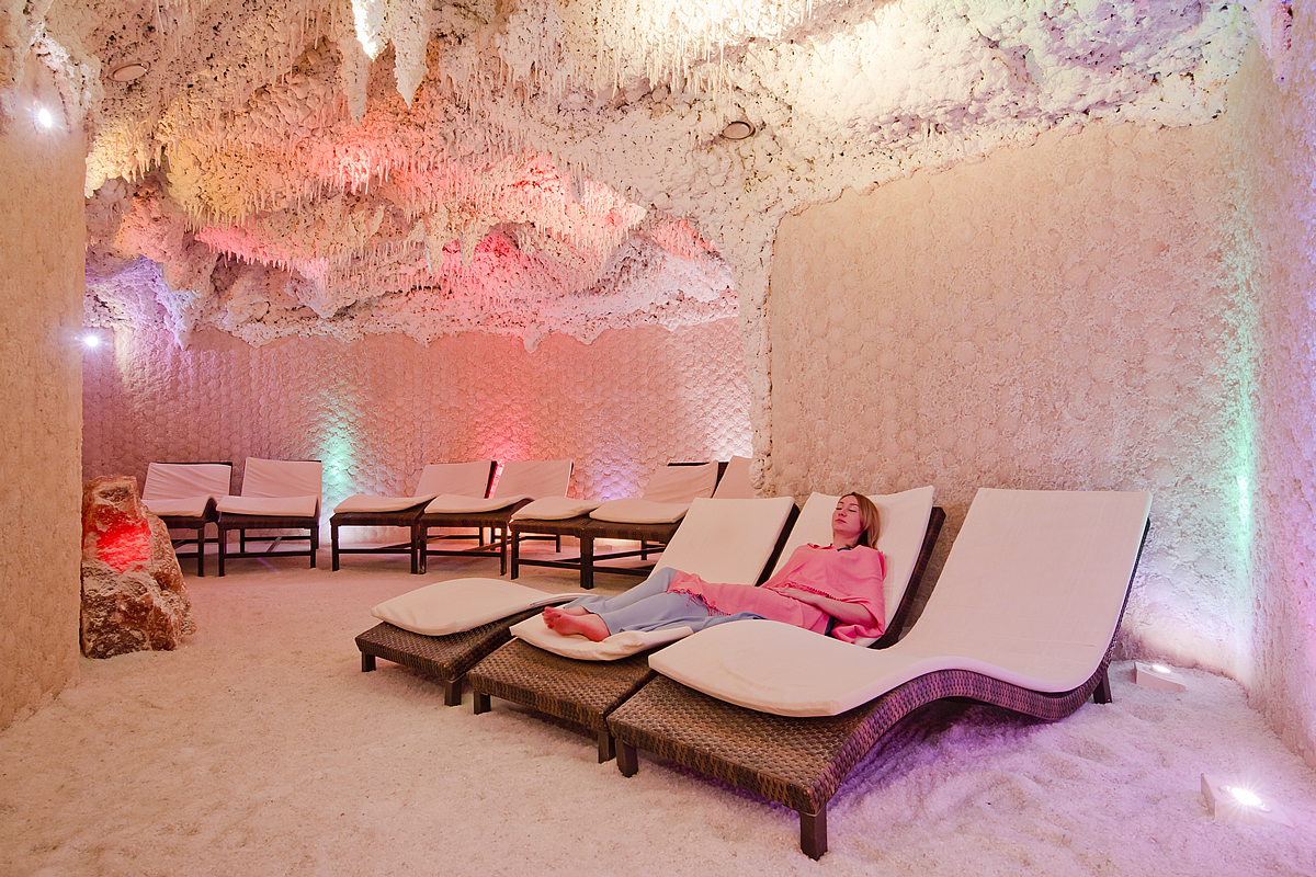 Relaxing in a Salt Caves